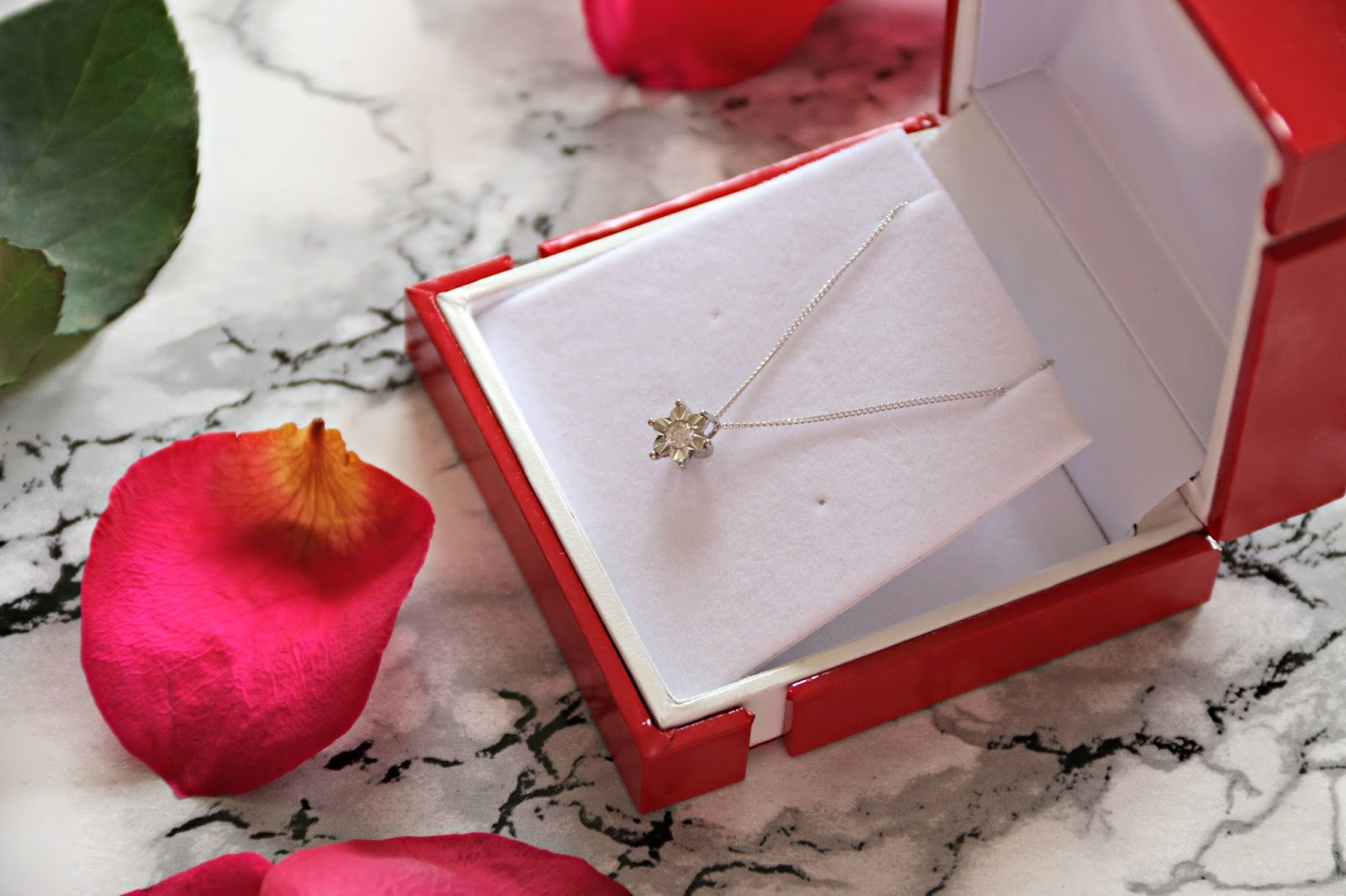 Chapelle Jewellery White Gold and Diamond Flower Necklace Gift Guide