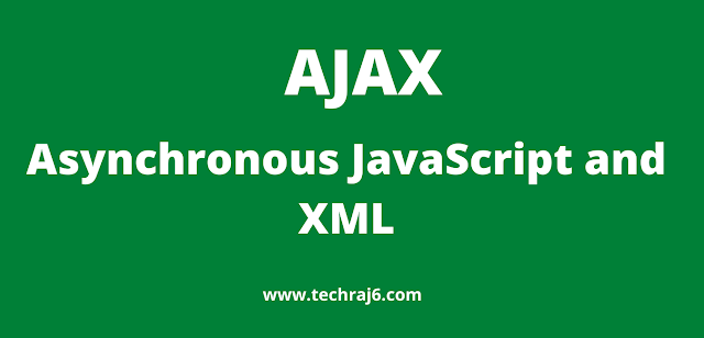 Ajax full form, What is the full form of Ajax