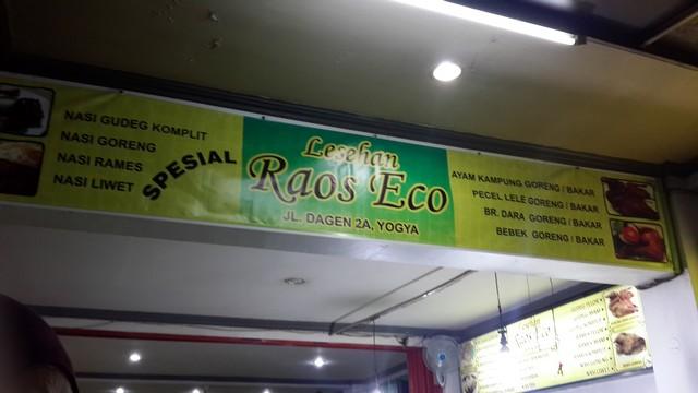 """Kuliner Jogja """"Lezatnya Sajian Kuliner Lesehan Raos Eco"""";Kuliner Jogja Malam di Jalan Dagen;"""