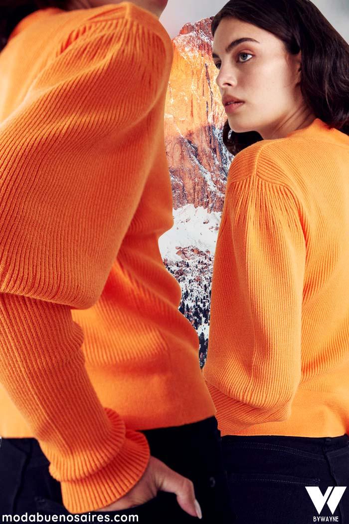 saquitos de moda tejidos para mujer invierno 2021