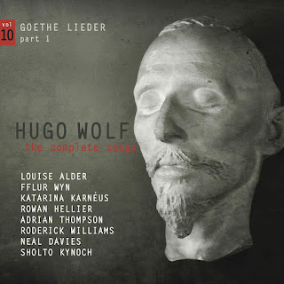 Hugo Wolf Goethe Lieder, part 1; Louise Alder, Fflur Wyn, Katarina Karneus, Rowan Hellier, Adrian Thompson, Roderick Williams, Neal Davies, Sholto Kynoch; STONE RECORDS