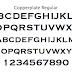 小文字がない気品可愛い英フォント「Copperplate (カッパープレート)」