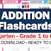 ADDITION FLASHCARDS for KG, Grade 1 to Grade 6 (Free Download)