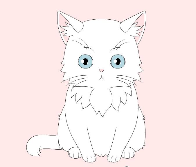 Mewarnai kucing anime