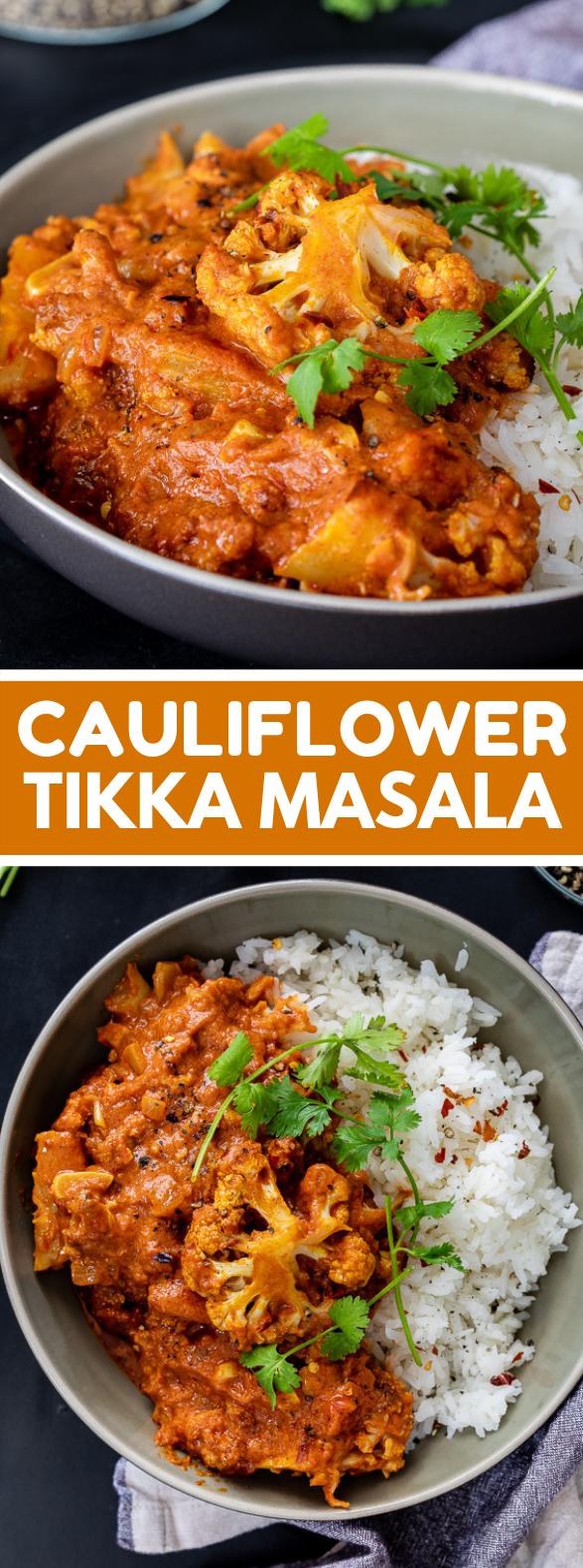 EASY CAULIFLOWER TIKKA MASALA CURRY #veggies #sauce
