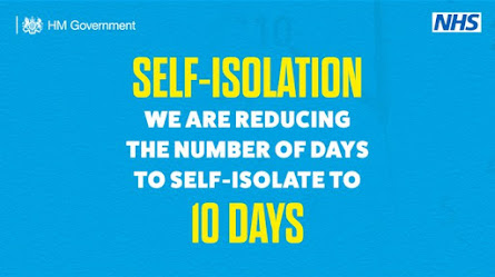 UK Gov reducing the number of days you need to self-isolate from Monday 14th December 2020