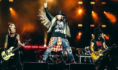 Foto de Guns'Roses en una presentación