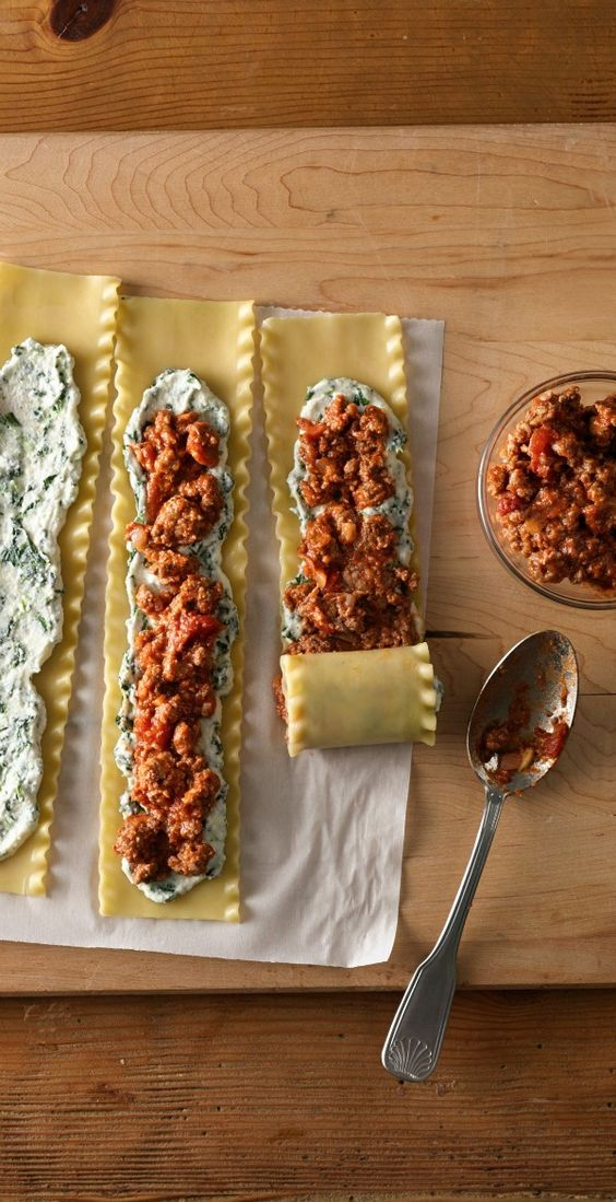 Make-Ahead Meat-Lovers' Lasagna Roll-Ups #recipes #dinnerideas #foodideas #foodideasfordinnereasy #food #foodporn #healthy #yummy #instafood #foodie #delicious #dinner #breakfast #dessert #lunch #vegan #cake #eatclean #homemade #diet #healthyfood #cleaneating #foodstagram