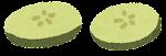 ハンバーガーの具材のイラスト(ピクルス)