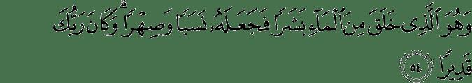 Al Furqan ayat 54