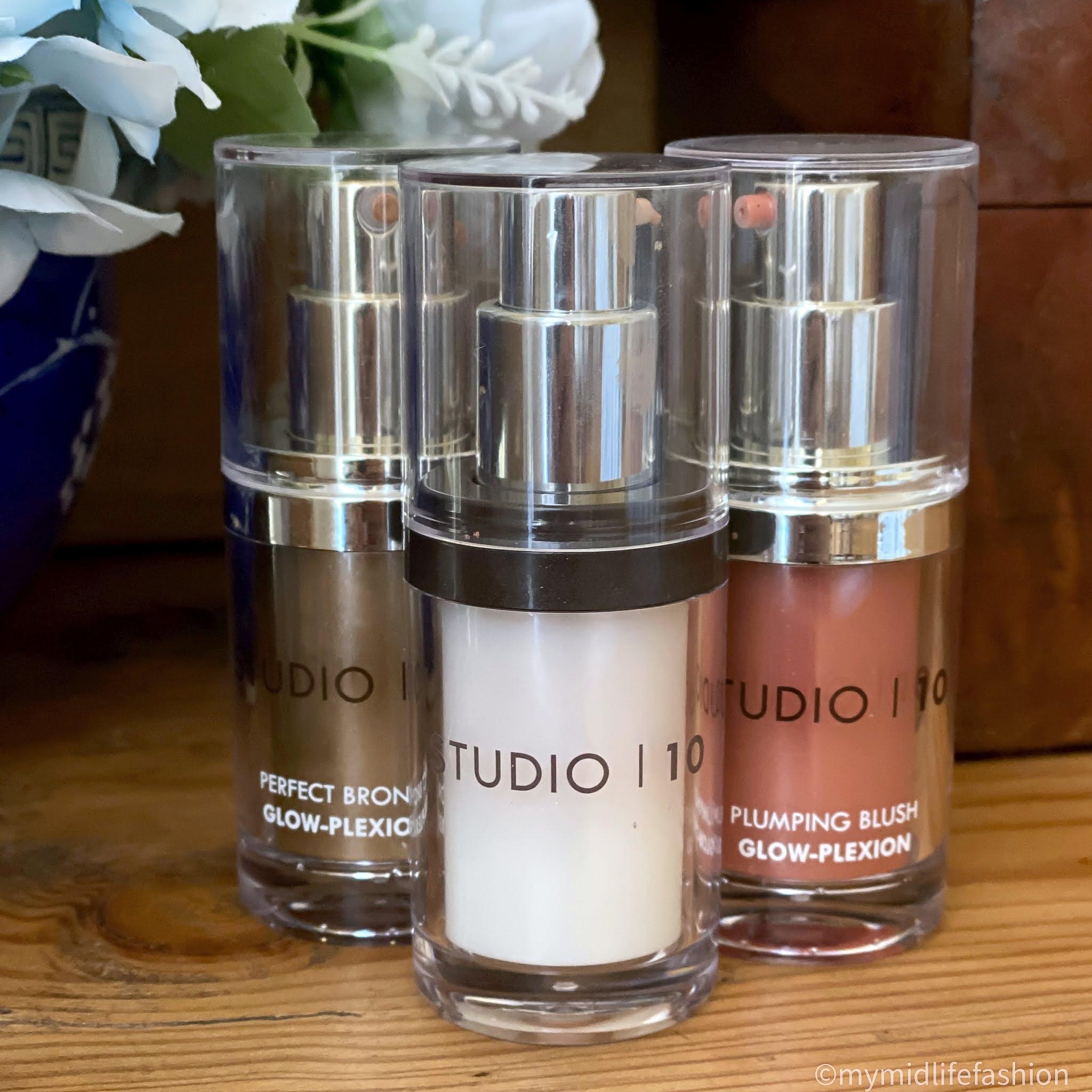 my midlife fashion, studio 10 make up, studio 10, studio 10 perfect bronze glow-plexion, studio 10 youth lift glow-plexion, studio 10 Plumping blush glow-plexion