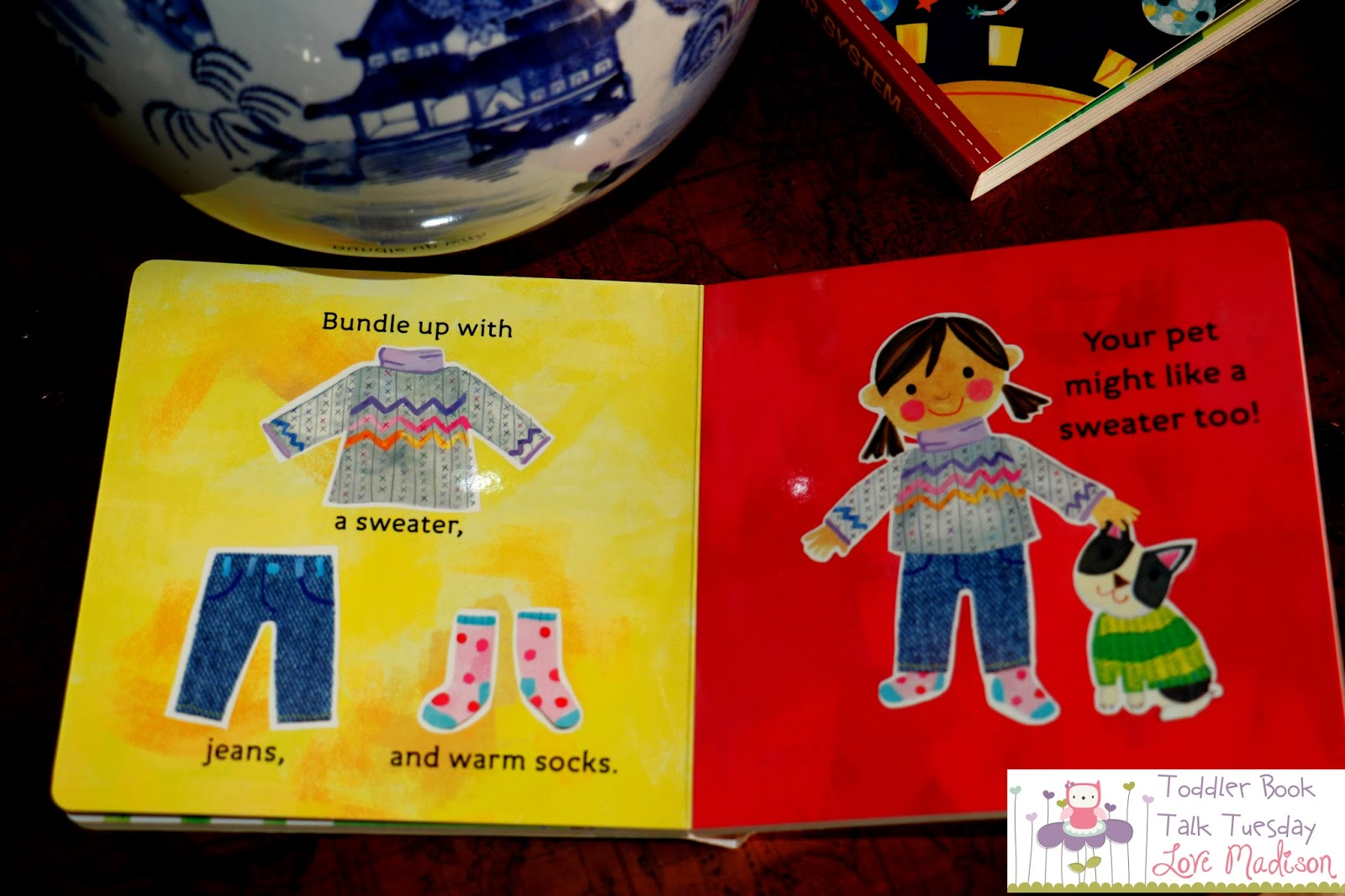 Your little one will love to point out the different pieces of clothing  that you wear with each weather. You can even compare the weather and how  different ...