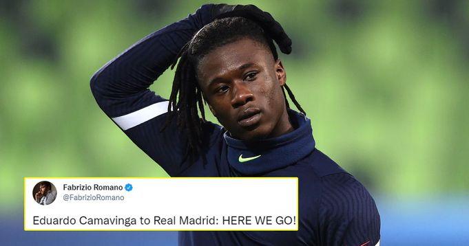 Romano confirms done deal for Camavinga to Real Madrid