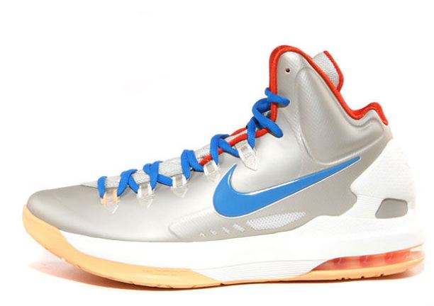 quality design aab8f 7983f Here is a look at the Nike KD V Sneaker in Birch  Photo Blue- Sail- Team  Orange releasing on Saturday, February 9 for  115, will you be picking  these up