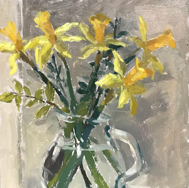 #311 'First Spring Dafodils' 8×8″