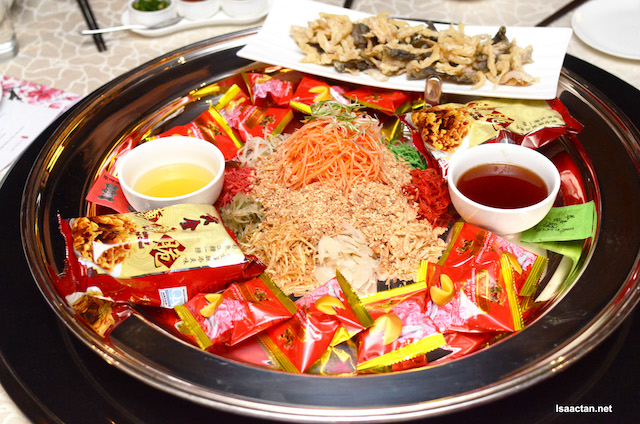 Yee Sang with White Fish Bait