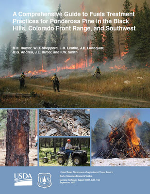 cover of Comprehensive Guide to Fuels Treatment Practices for Ponderosa Pine in the Black Hills, Colorado Front Range, and Southwest