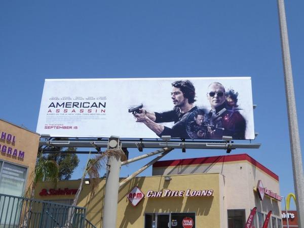 American Assassin movie billboard