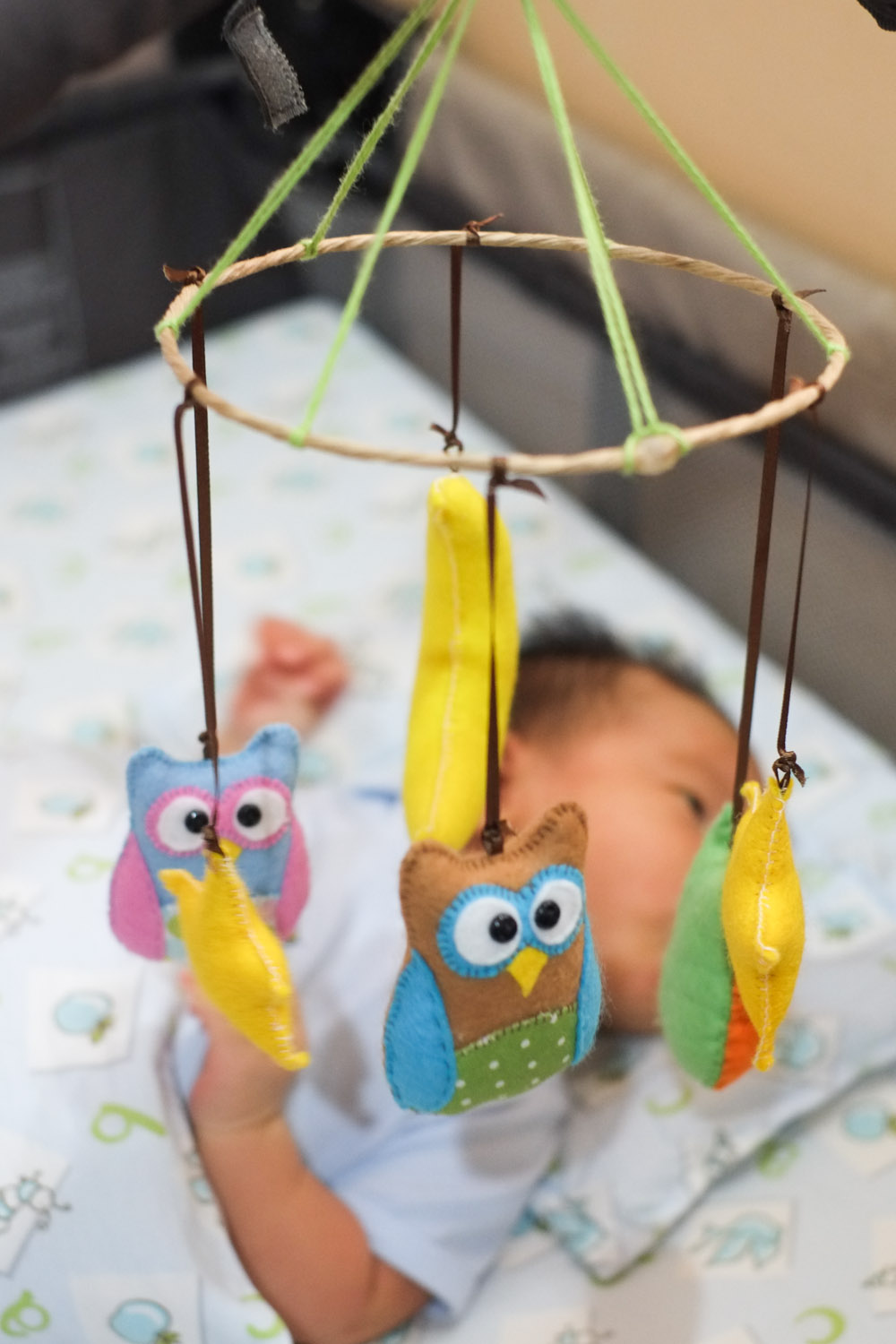 make a good day diy owls baby mobile. Black Bedroom Furniture Sets. Home Design Ideas