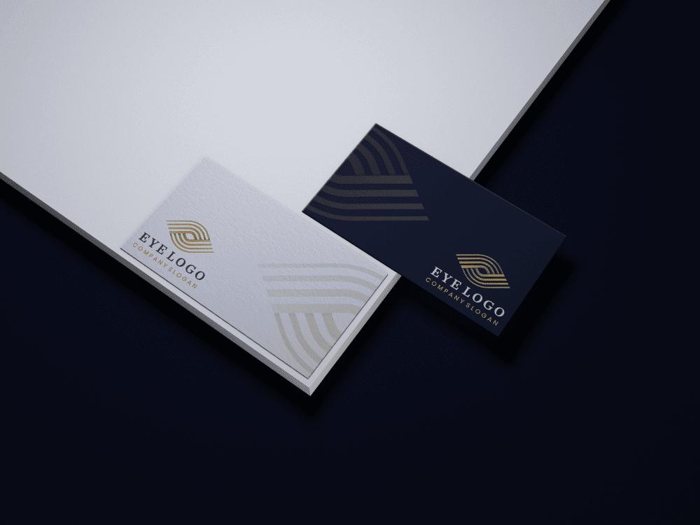 Free eye logo on business cards