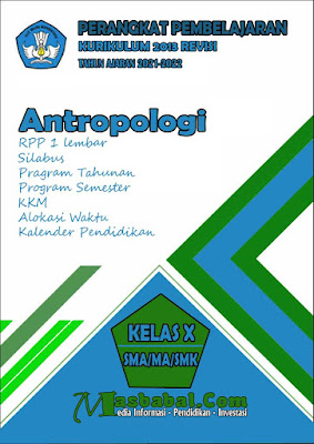 Perangkat Pembelajaran Antropologi Kurikulum 2013 Revisi Terbaru
