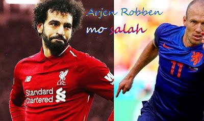 عدسه اوروبية اللاعب الهولندي اريين روبن صلاح الافضل حاليآ Arjen Robben-mo salah 2020