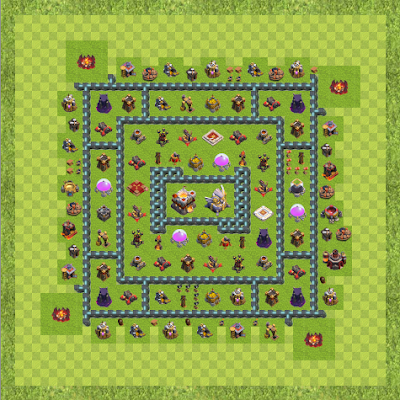 War Base Town Hall Level 11 By anonymous (Better TH 11 Layout)