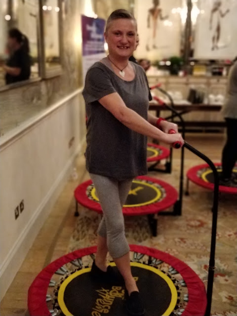 madmumof7 on exercise trampoline