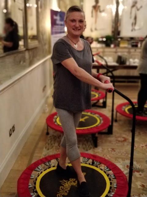 madmumof7 on exercise trampoline