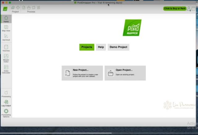 Cara Mosaicking data drone dengan Pix4D Mapper