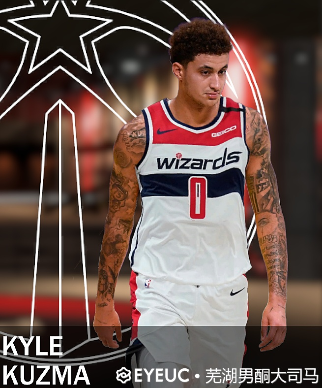 NBA 2K21 Kyle Kuzma Wizards Portrait by Wuhu Dasima