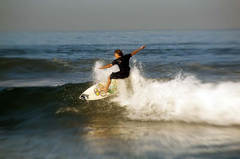 Surfing in Legian Beach
