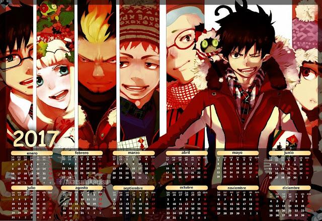 calendario anime español-english