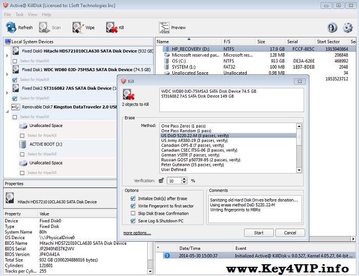 Active KillDisk Professional 9.0.527 Full,Xóa vĩnh viễn dữ liệu trên ổ cứng