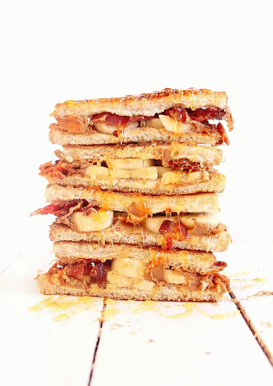 Elvis didn't invent the peanut butter and banana sandwich, but he sure did make it famous. This version includes bacon, and is a family favorite!