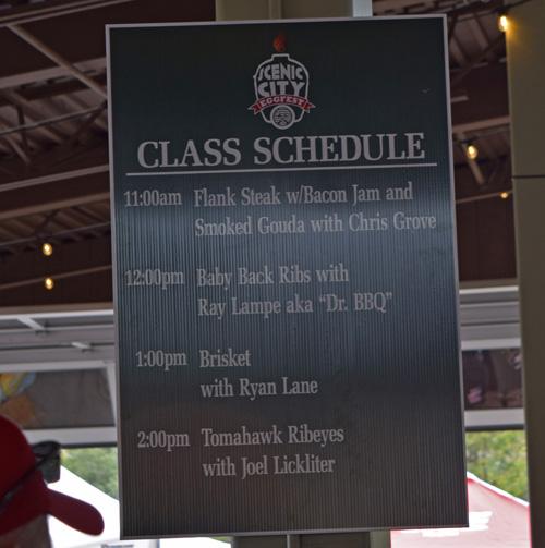 2019 Scenic City Eggfest class schedule.
