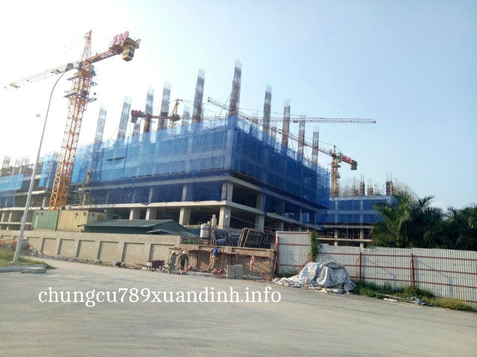 tiến độ xây dựng Chung cư 789 Xuân Đỉnh