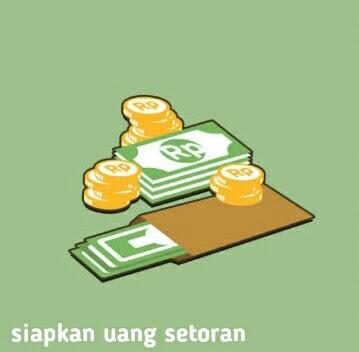 siapkan uang setoran