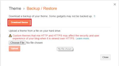 Download Backup Template Blogspot
