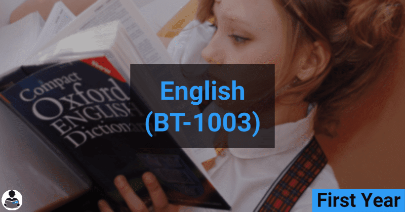 English (BT-1003) RGPV notes CBGS Bachelor of engineering