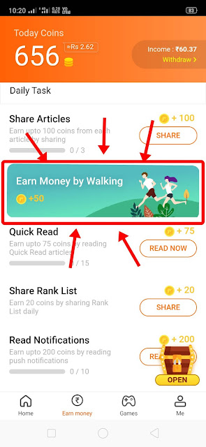 rozdhan app earn money by walking