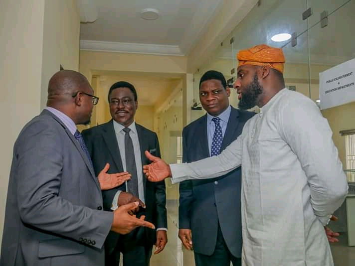 Photos of Oyo State Speaker, Rt. Hon. Adebo Ogundoyin and Others at The Commissioning of ICPC Complex in Oyo State teelamford 2