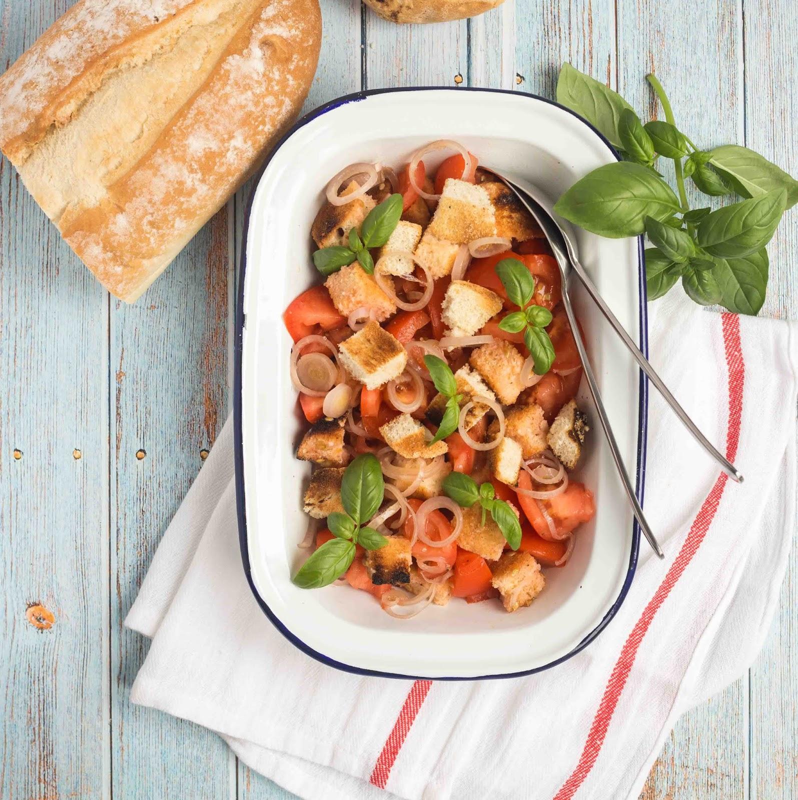 Receta facil de Panzanella - Tengo un horno y se como usarlo