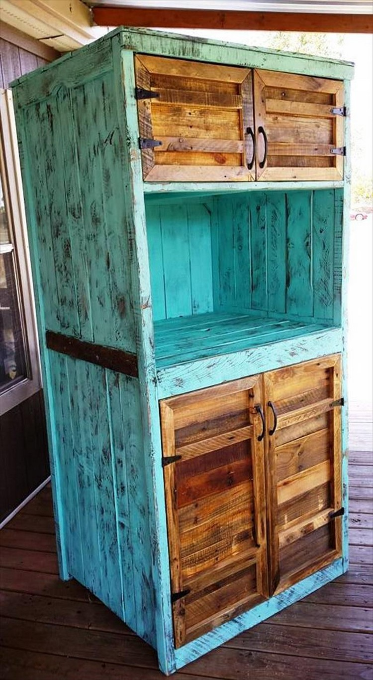 Georious Kitchen Cabinets Using Old Pallets - Pallets Platform