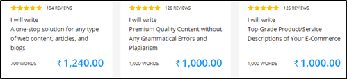 content mart writing price