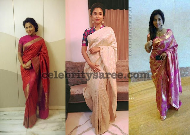 Amala-paul-light-weight-silk-sarees