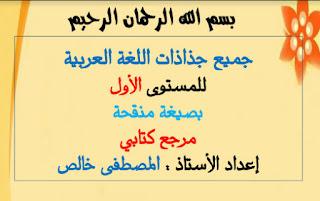 جذاذات-اللغة-العربية-كاملة--مرجع-كتابي-للمستوى-الأول--نسخة-منقحة