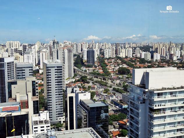 Vista superior com parte do Brooklin e do Brooklin Velho ao fundo - São Paulo