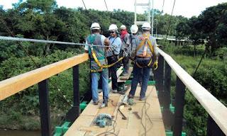 Pontes de balanço de Cajati passam por reforma completa
