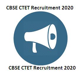 CBSE CTET Recruitment 2020